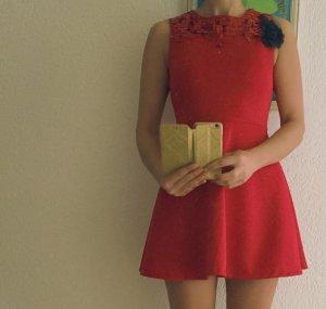 Kleid Rot Cocktailkleid Pailletten Party 36 / S