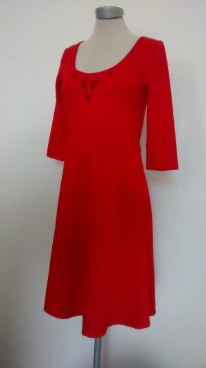 Kleid rot Gr. S 36 38 + Pailletten neu Etuikleid A Linie knielang Büro Weihnachten