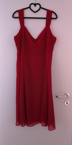 Esprit Chiffon jurk rood Polyester