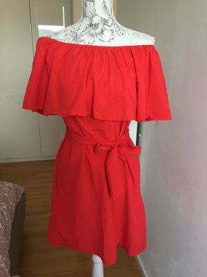 Kleid rot Off shoulder Gr M NEU