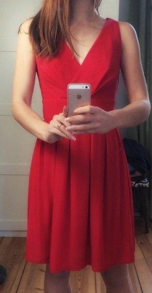 Kleid rot Schleife Wickel Wickeloptik 34 XS