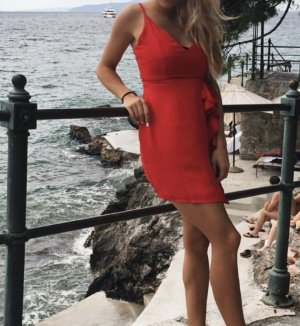 Kleid rot Sommerkleid Missguided Strandkleid