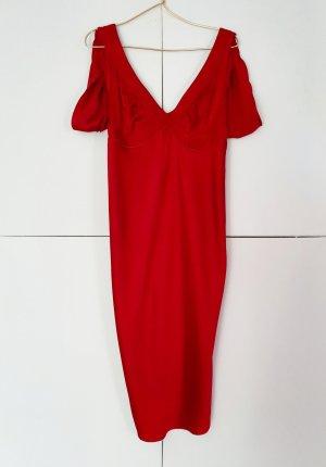 Costume National Midi Dress red-dark red