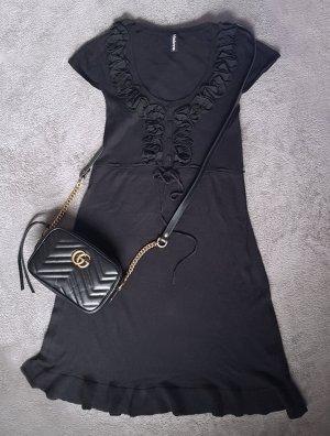 Kleid Rüschen Volant Schwarz Madonna Gr. XS
