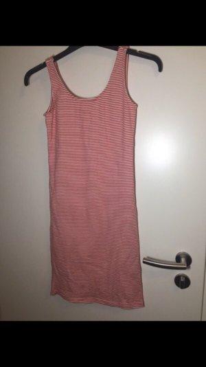 Vestido de tubo blanco-rojo