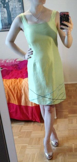 Kleid S.Oliver Gr. S 36 Seide Seidenkleid silk Etui etuikleid Sommer hellgrün
