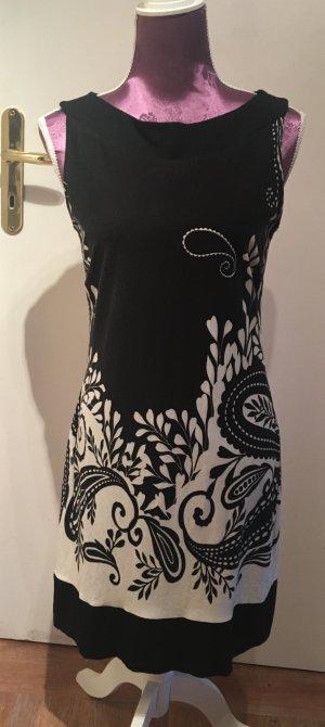 Kleid s.Oliver schwarz mit weißem Druck