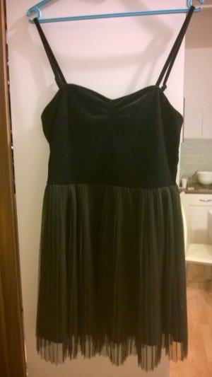 Kleid Samt Mesh Reißverschluss
