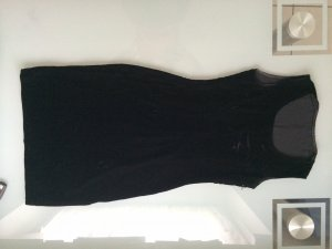 Kleid Samt Samtkleid Etuikleid Gr. 34 XS schwarz