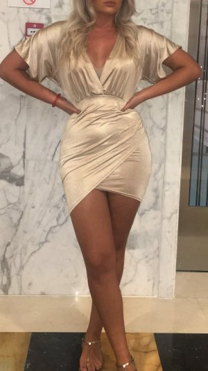 Kleid Satin nude Party