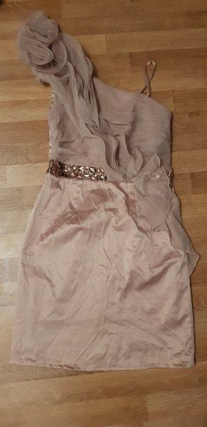Kleid schick fein beige Größe 36
