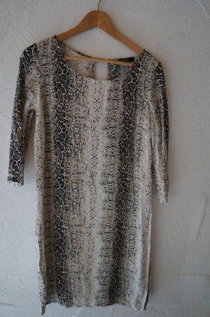 Kleid Schlangenmuster Animalprint schwarz weiß Vila Größe XS