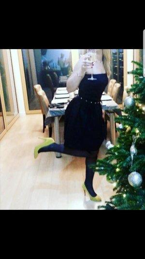 Kleid Schulterfrei 38 Tiffi schwarz
