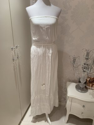 Accessorize Vestido strapless blanco