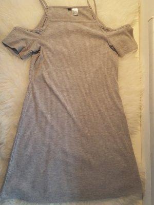 Kleid schulterfrei grau