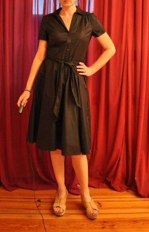 Kleid, schwarz, 38, ausgestellter Rock