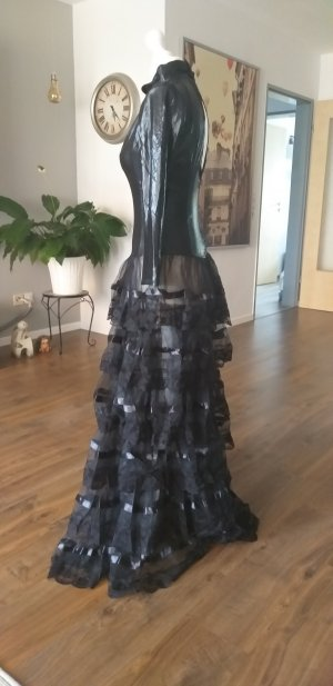 Robe à volants noir