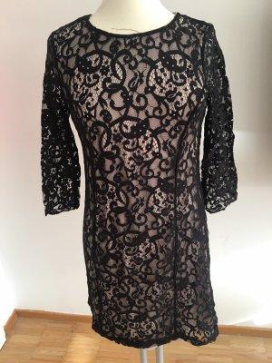 Kleid schwarz/beige