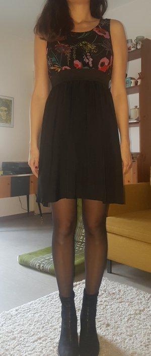 Kleid, schwarz, Blumen