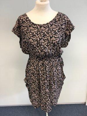 Kleid schwarz- braun