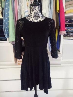 Kleid Schwarz Business Spitze Lace M 38 Partykleid Strechkleid