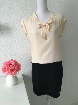 Kleid schwarz Creme von Promod Größe 36