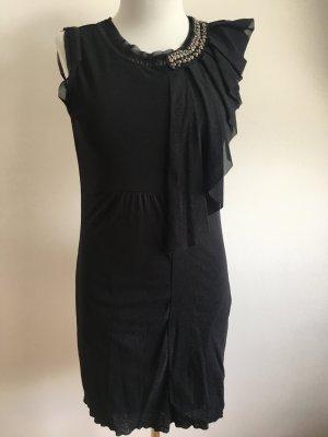 Zero Robe mi-longue noir-argenté