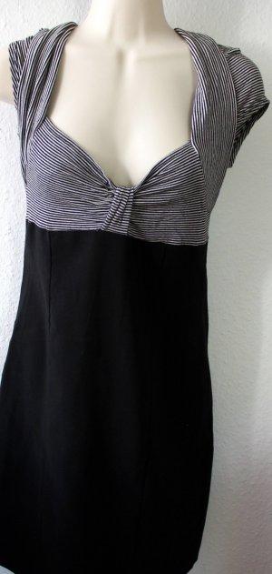 Kleid, schwarz, gestreift