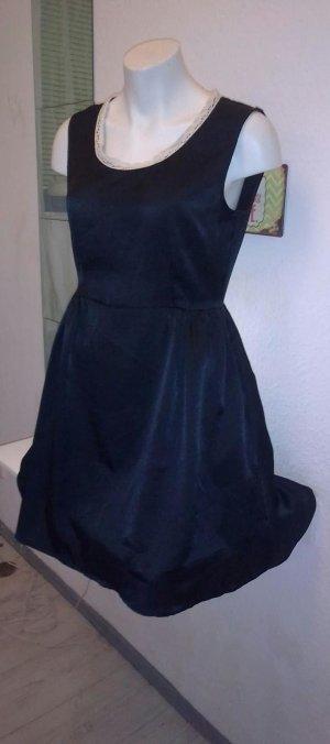Kleid, schwarz glänzend 36