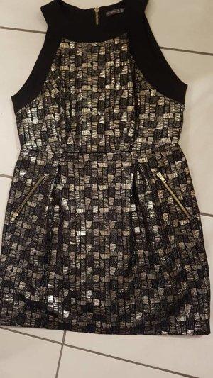 Kleid • Schwarz • Gold • Gr. 42