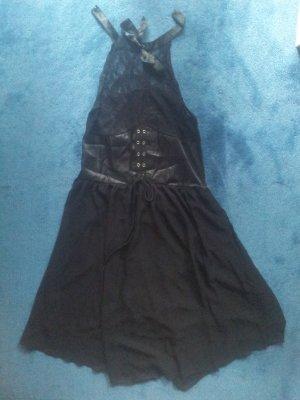 Kleid schwarz Gothik transparent Gr. 46/48 NEU