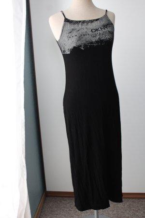 Kleid schwarz Gr. 32 XXS Trägerkleid DKNY Midikleid