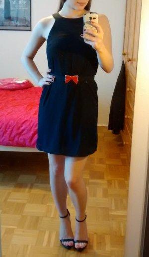 Kleid Schwarz Gr. 34 XS H&M schwarz Bändchen Etui mini kurz blogger sexy süß