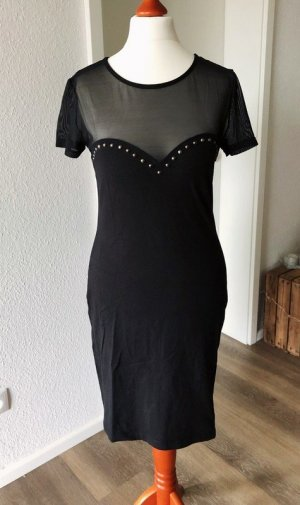H&M Jersey Dress black mixture fibre