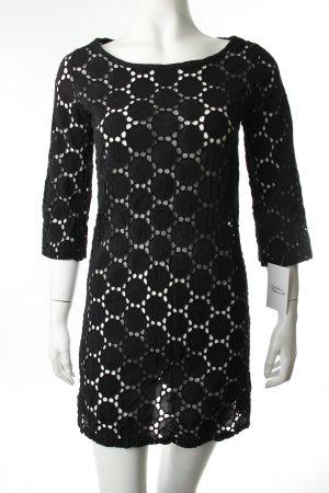 Kleid schwarz Häkel-Detail