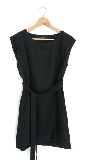Kleid, schwarz, kurzärmlig