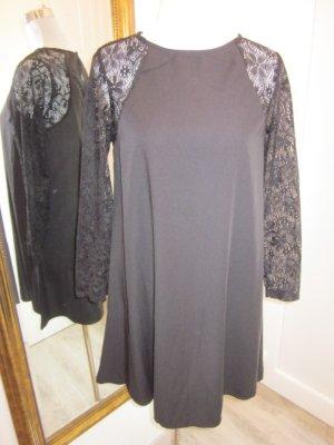 Kleid schwarz Langarm spitze Neu Gr M