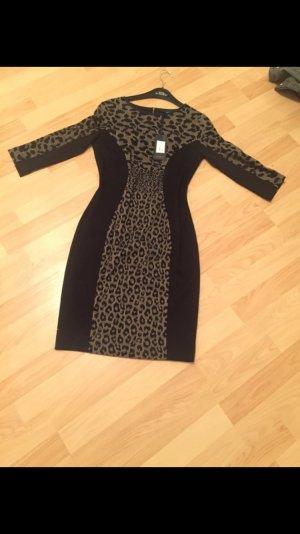 Kleid schwarz Leo Muster neu