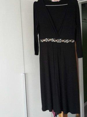 Kleid schwarz M mit Nieten/Steinen