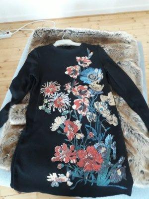Kleid schwarz mit Blumenprint
