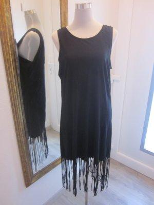 Kleid schwarz mit Franzeln #VeroModa Gr L