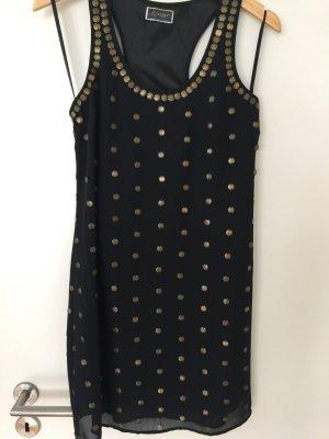 Kleid schwarz mit Metallplättchen Lipsy 36