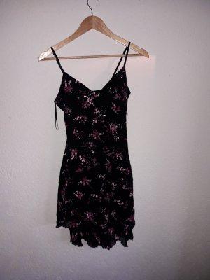 kleid schwarz mit rosa blümchen
