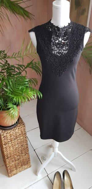Kleid schwarz mit Spitze S