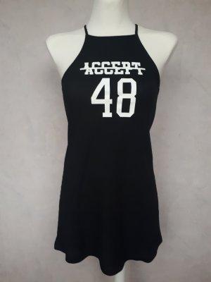 Kleid, Schwarz mit weißem Aufdruck, XS, H&M