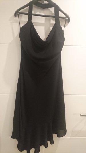 Kleid schwarz, Neckholder, kleine Schwarze, Wasserfallausschnitt