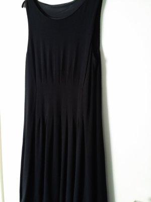 Robe ballon noir tissu mixte