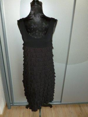 Promod Vestido de tela de sudadera negro Viscosa