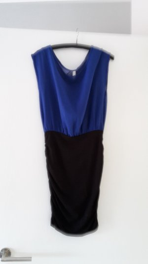 Kleid schwarz Royalblau