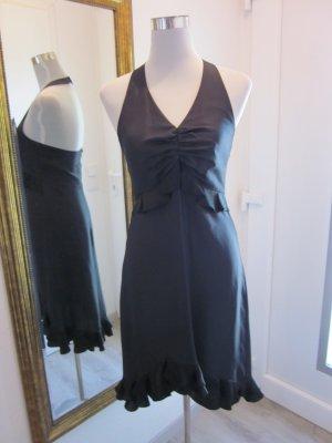 Kleid Schwarz Seide Neckholder Gr 36 #strenesse